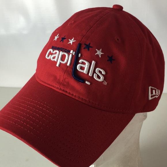 Washington Capitals New Era Hat Spellout Logo NHL.  M 5b9d700f7c979dad0acfddb3. Other Accessories ... f686eb1fd8fb